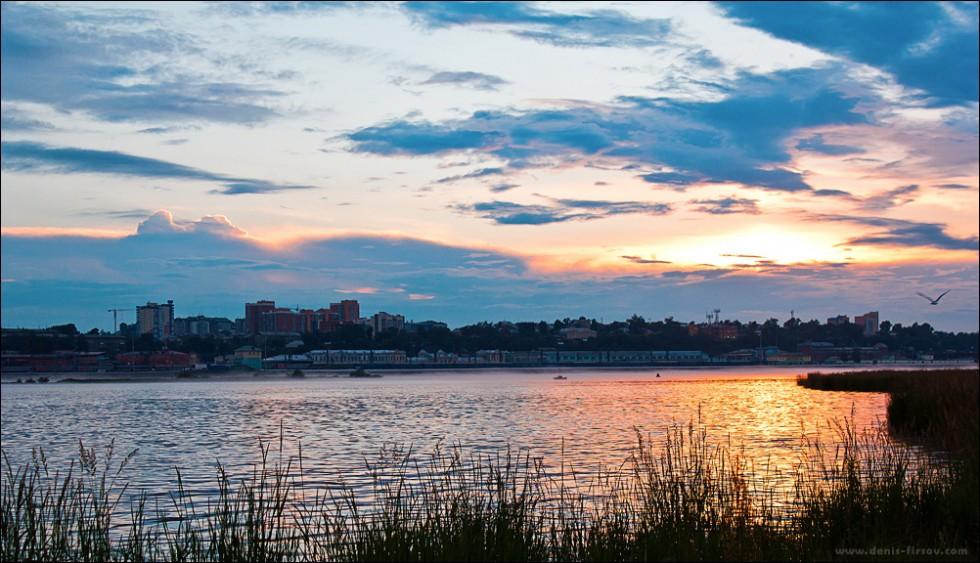 Закат над Ангарой