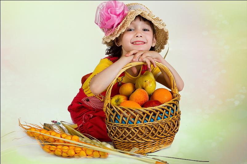 Кристина на детской фотосессии в Ангарске