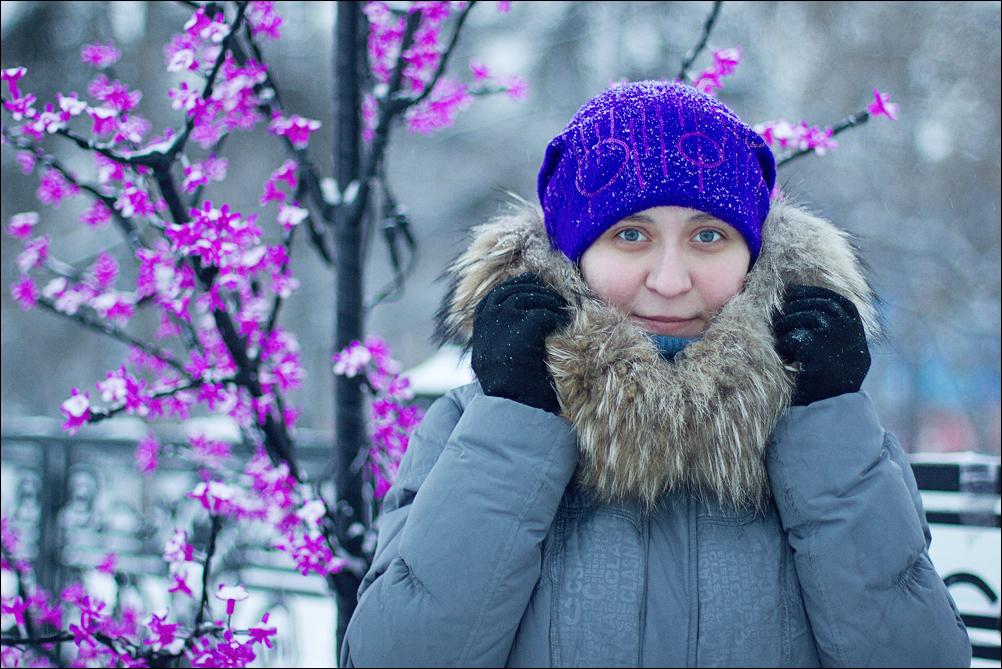 Зимняя фотосессия для девушки в Иркутске
