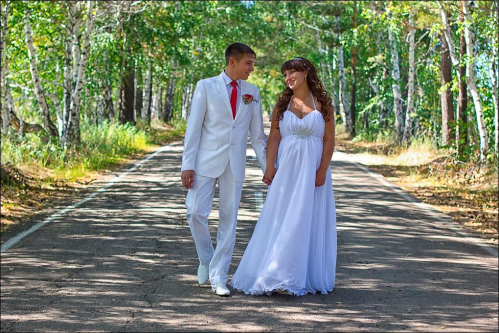 Летняя свадебная фотосессия в Ангарске