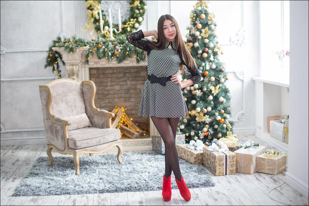 фотосессия в новогоднем декоре ангарск
