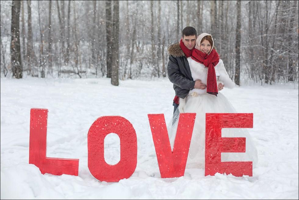 Зимняя свадебная фотосессия в Иркутске