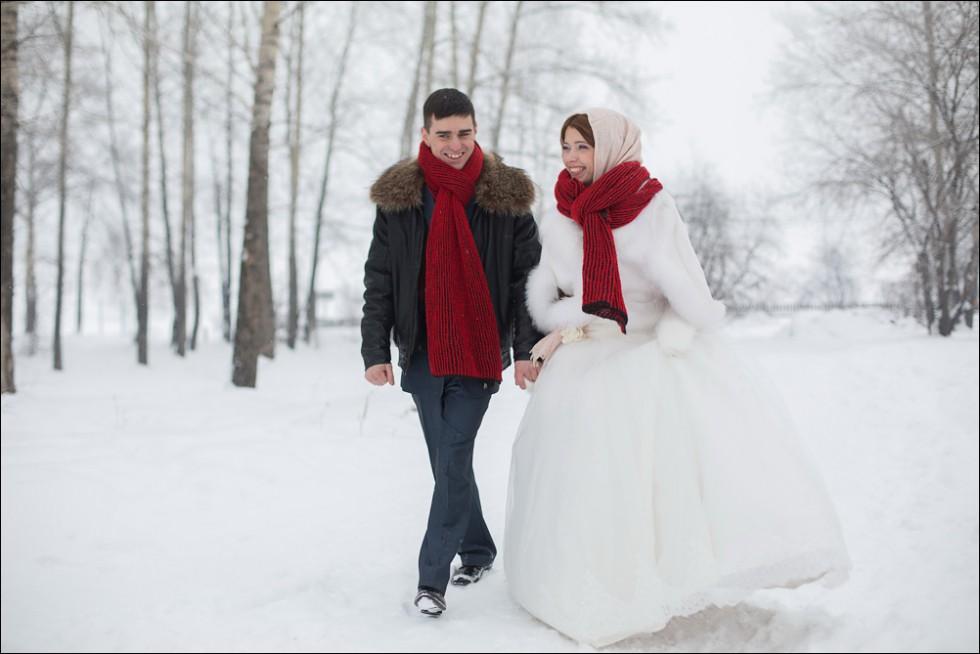 фотосеесия на свадьбу зимой
